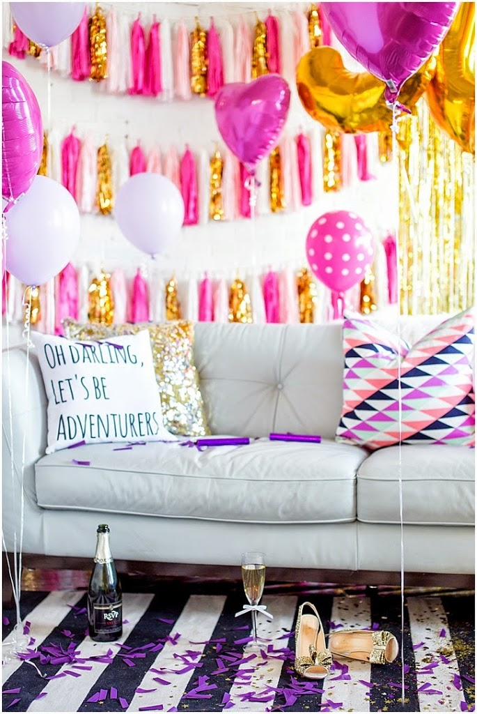 Bleu birthday bash mckenna bleu for 21st birthday room decoration ideas