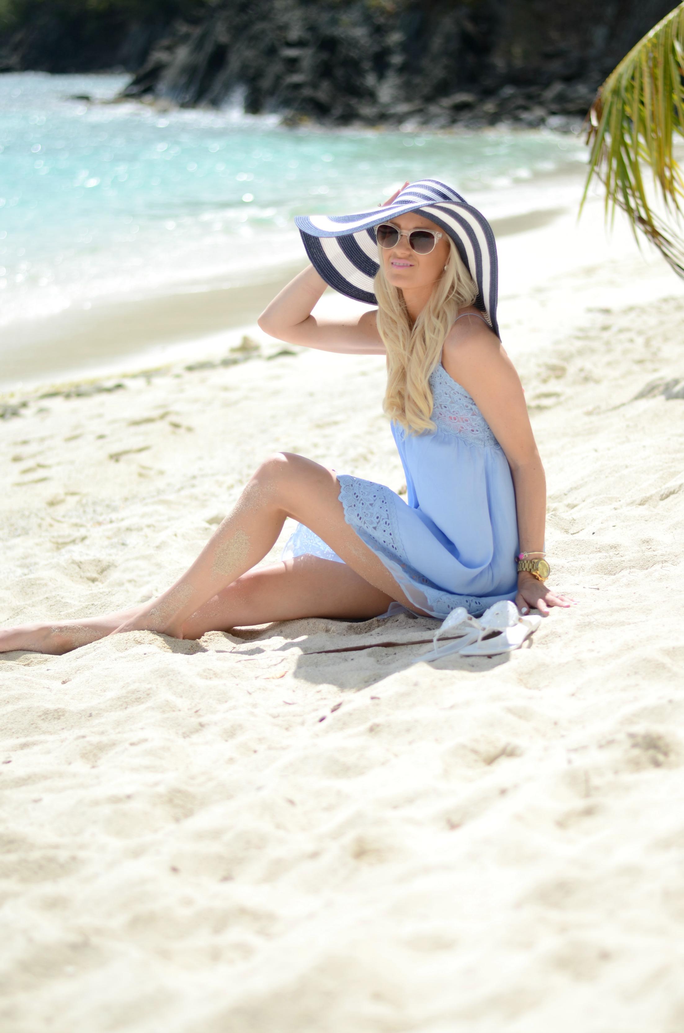 Powder Blue Sundress Mckenna Bleu