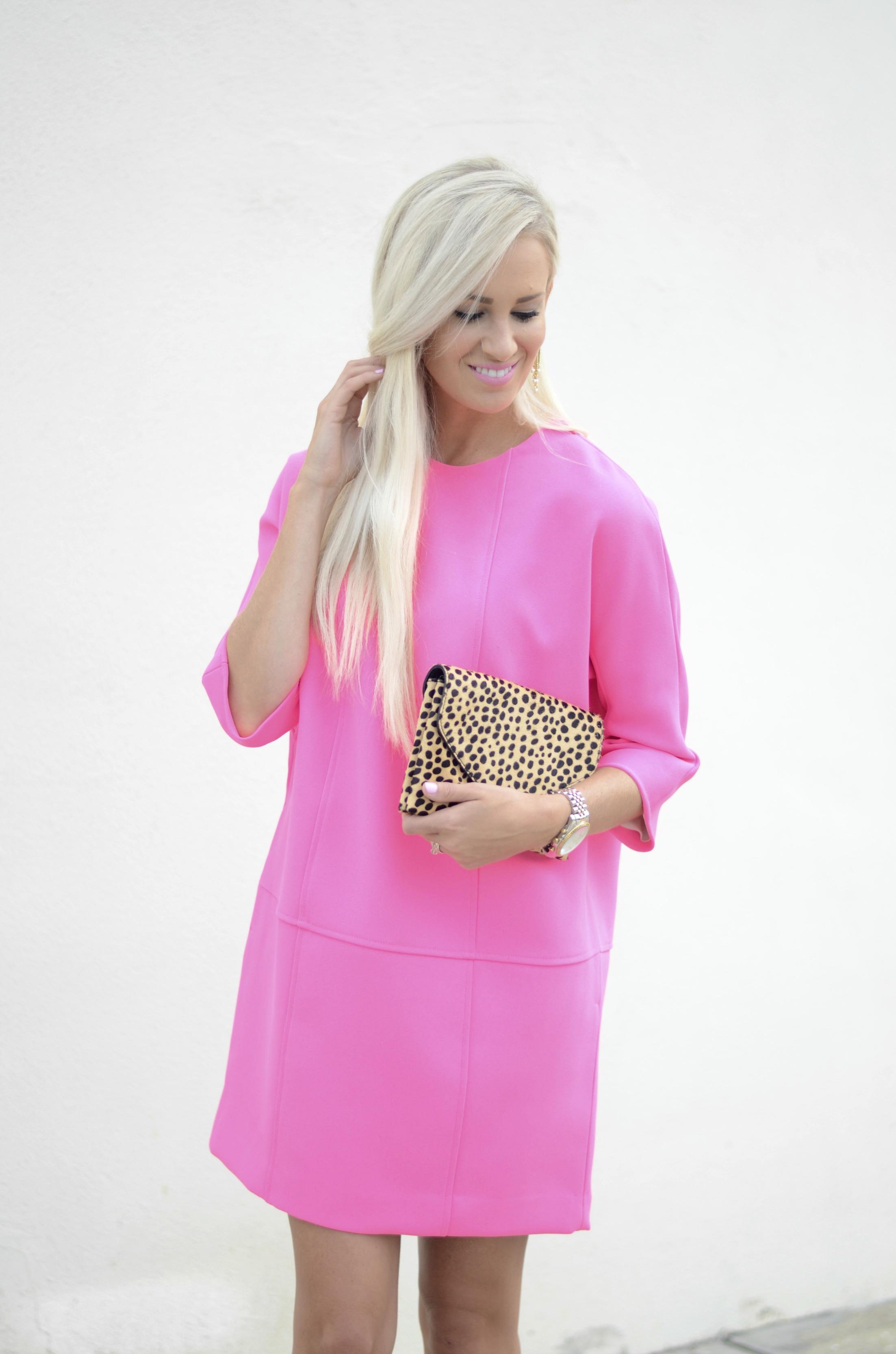 Pink Shift Dress - Mckenna Bleu