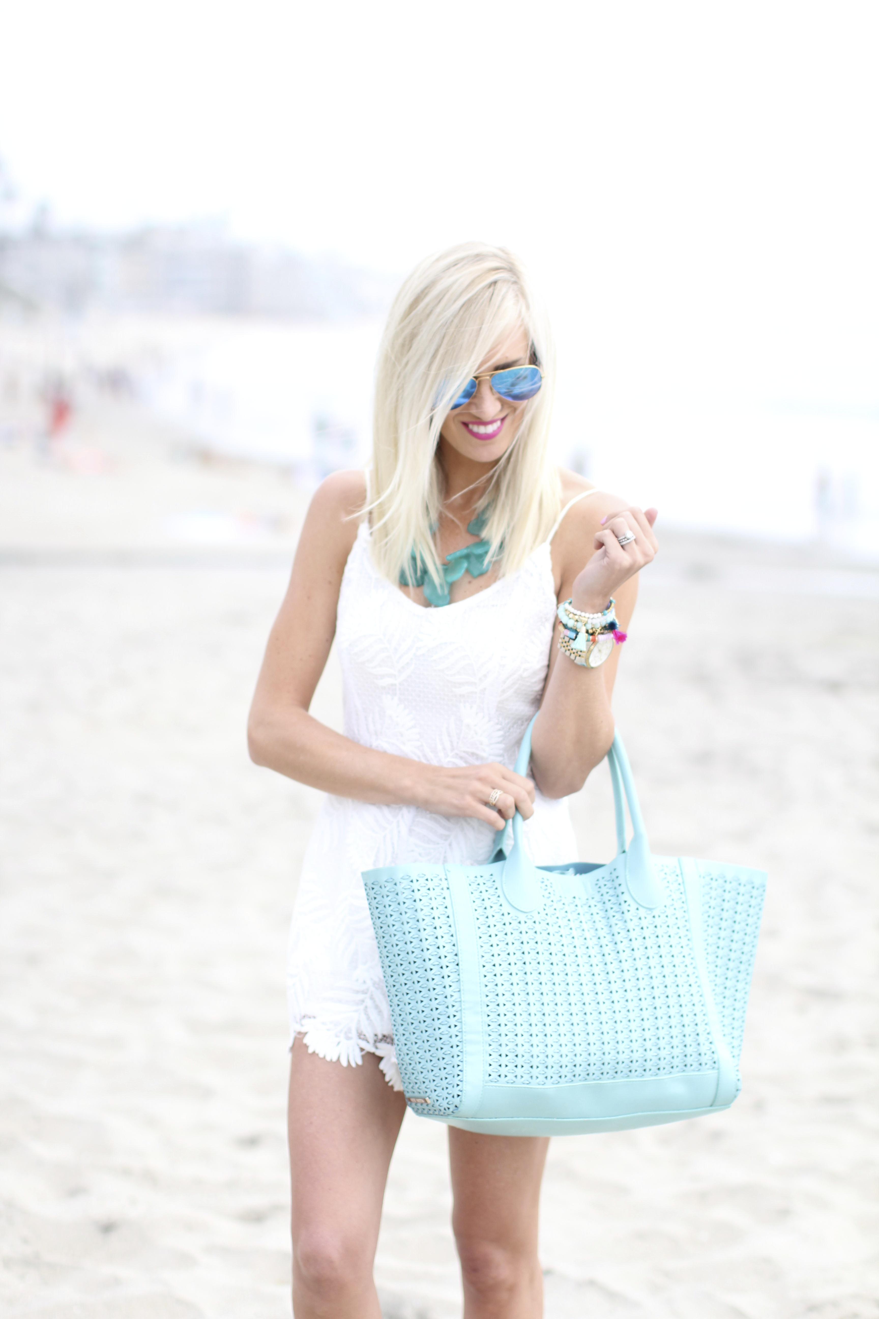White Lace Romper Mckenna Bleu