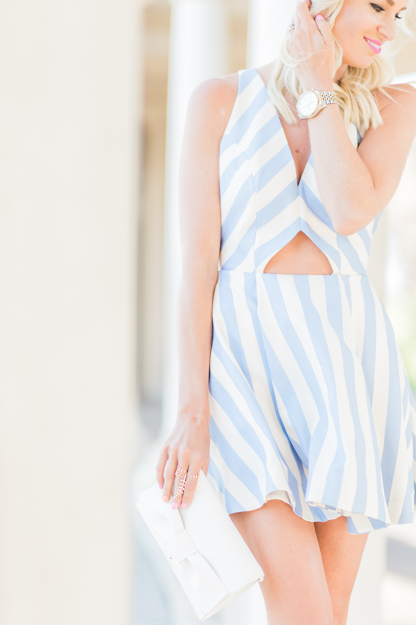 lovers   friends stripe sundress