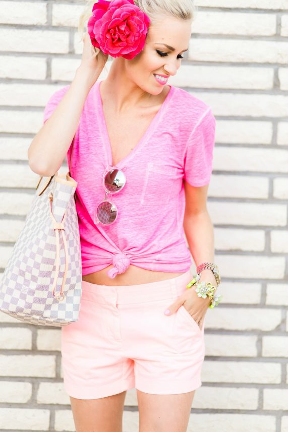 Pink + Peach Casual Look
