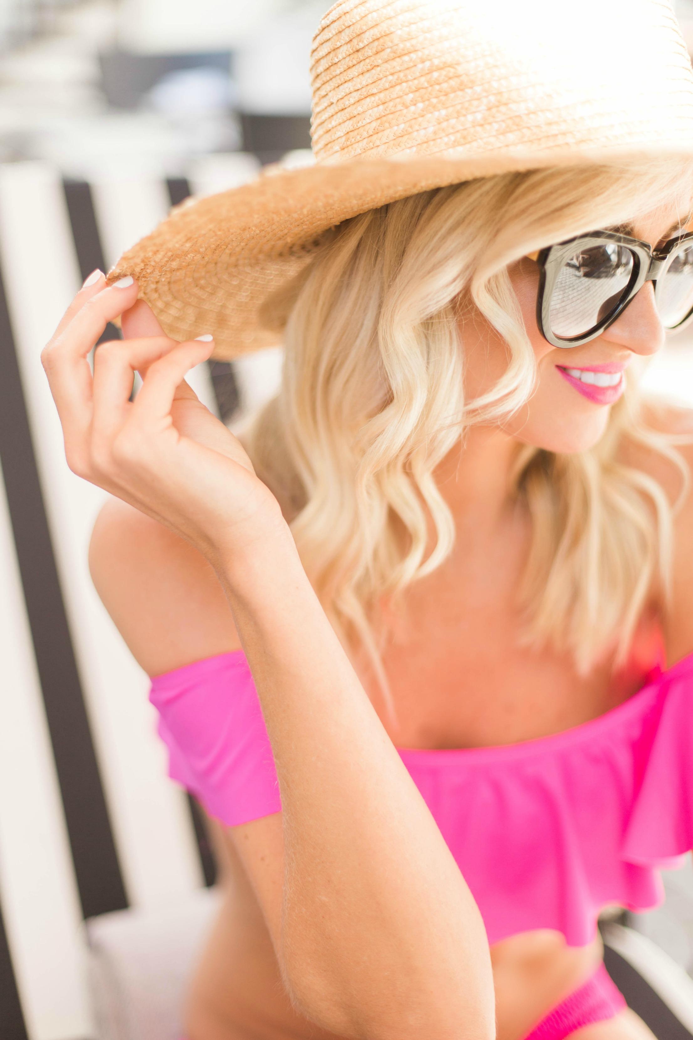 Pink Ruffled Swimsuit Mckenna Bleu