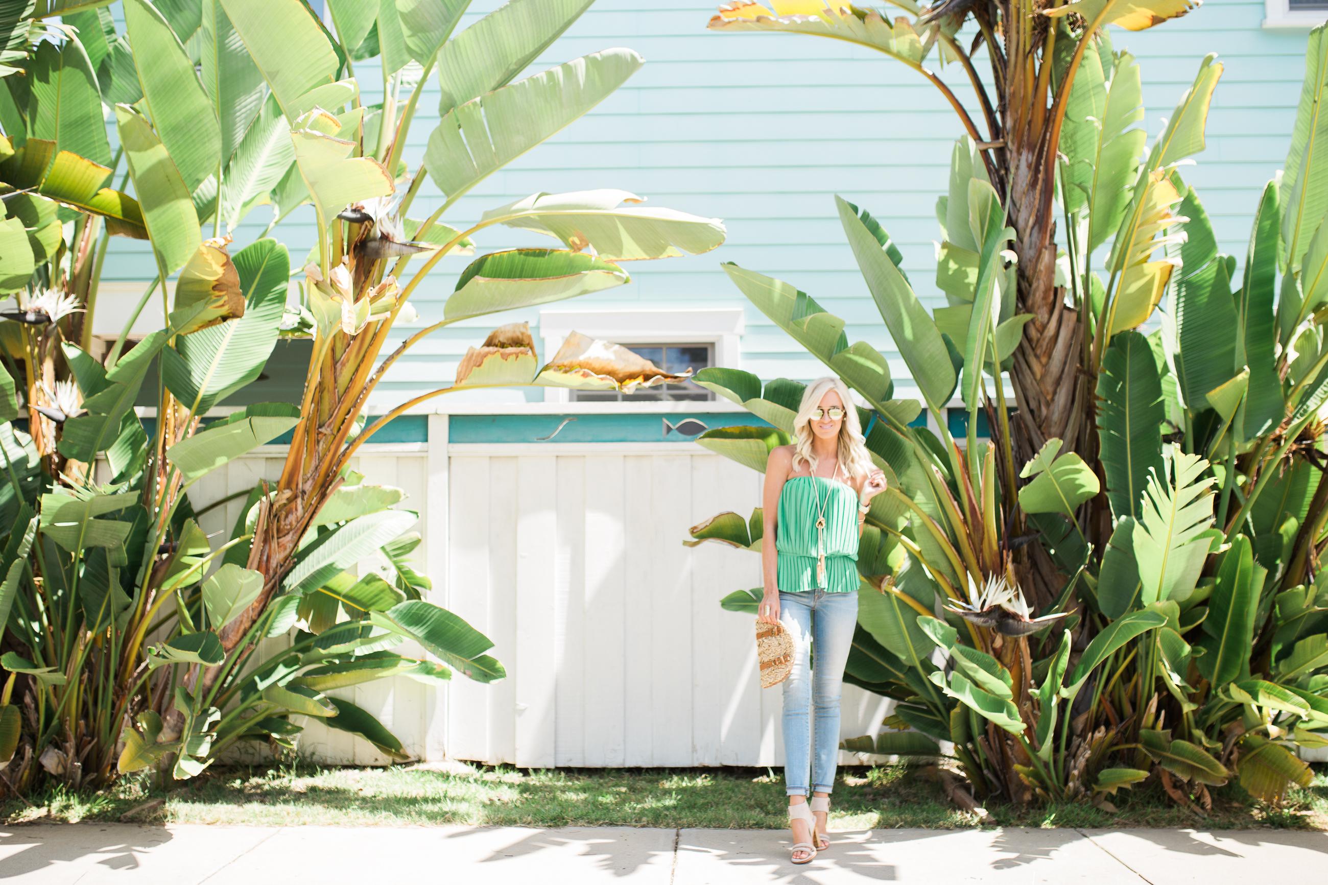 Green Nicole Miller Top