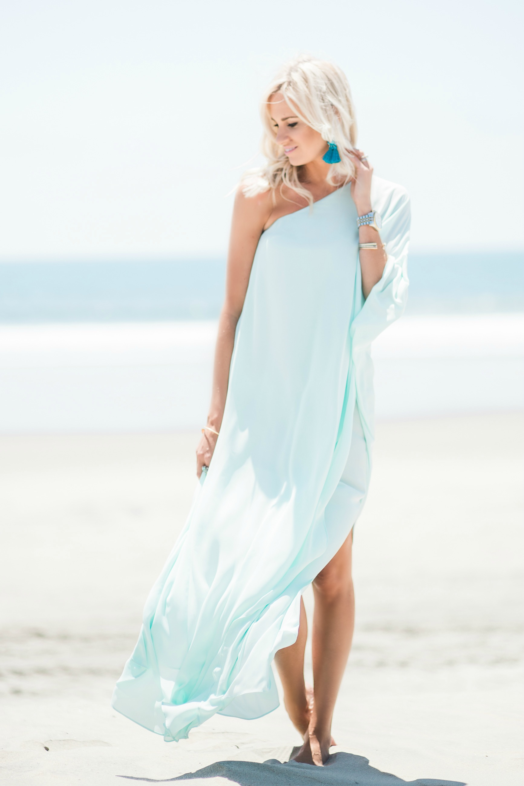 Light Blue Beach Maxi Dress Mckenna Bleu