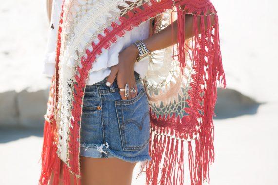 Free People Crochet Top + Levis Denim