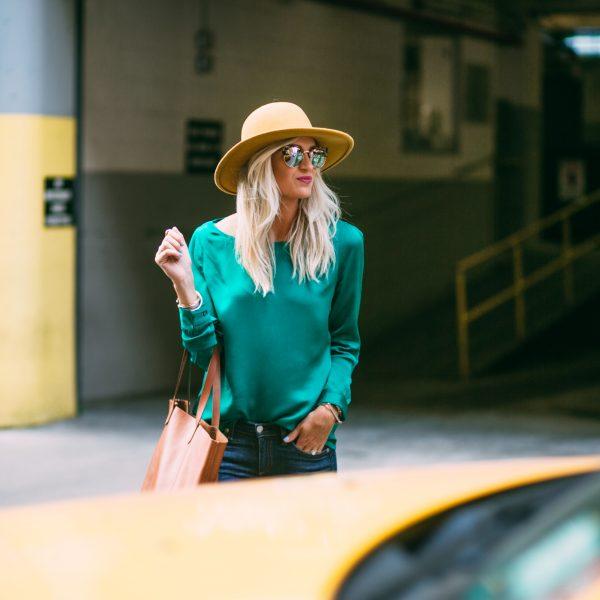 Green Blouse + My Favorite Skinny Jeans