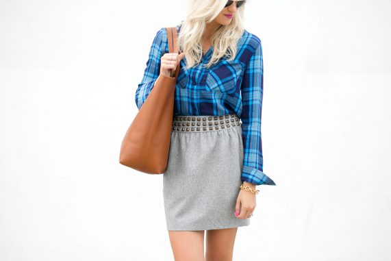 Casual Plaid + The Perfect Skirt For Fall