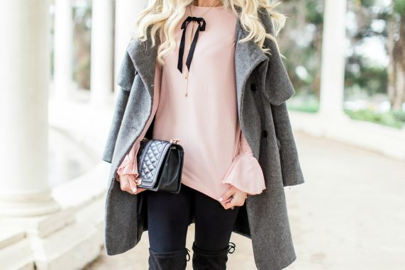 Blush Top & Over The Knee Boots