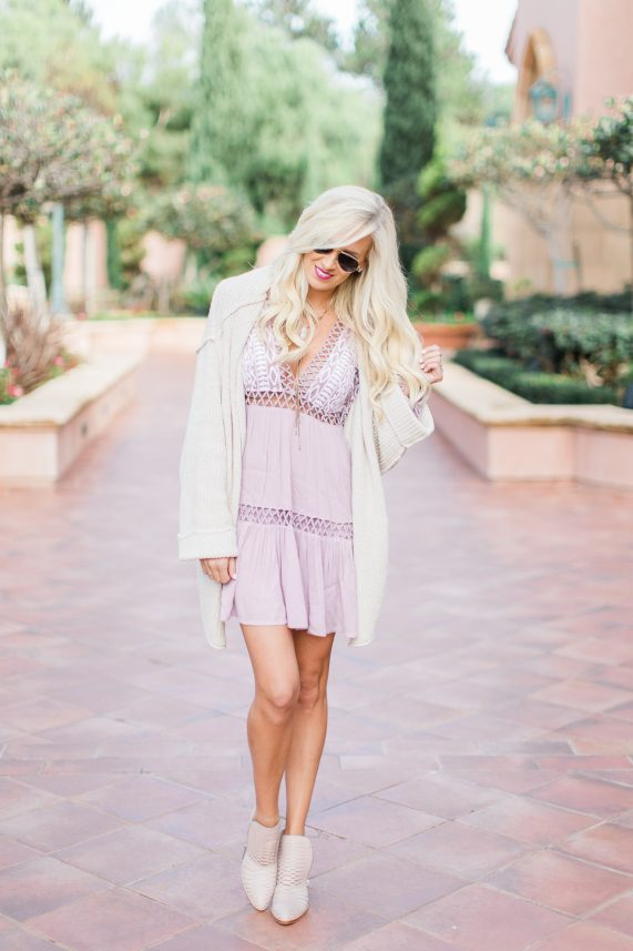 Free People Dress + Blush Booties
