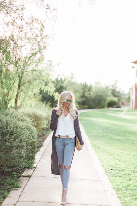 Casual Style with a long cardigan