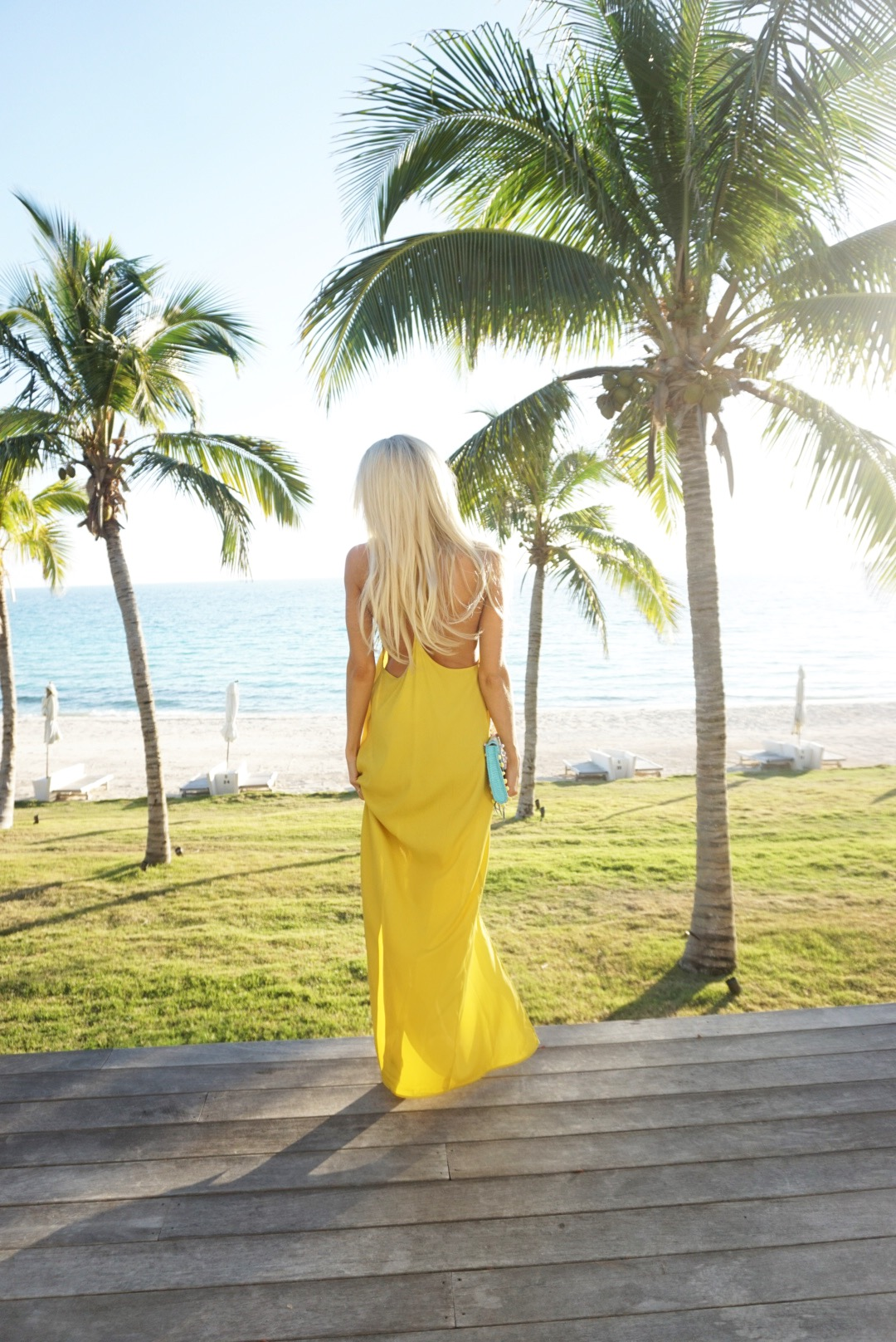 Yellow Beach Maxi Dress