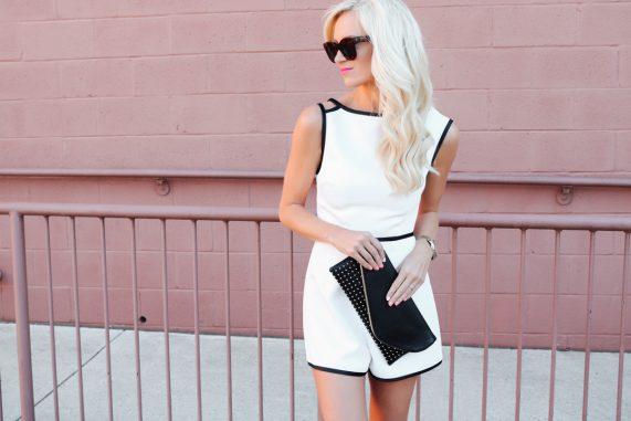 Black + White Classic Romper
