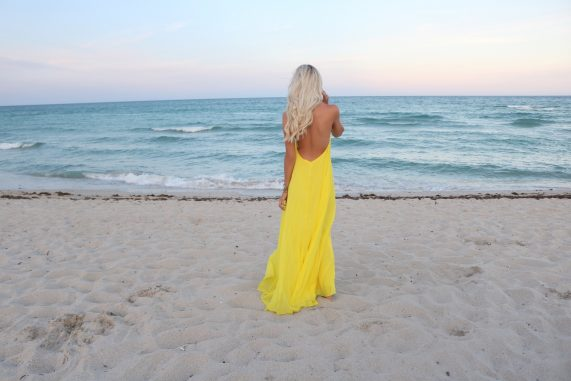 Yellow Chiffon Beach Maxi
