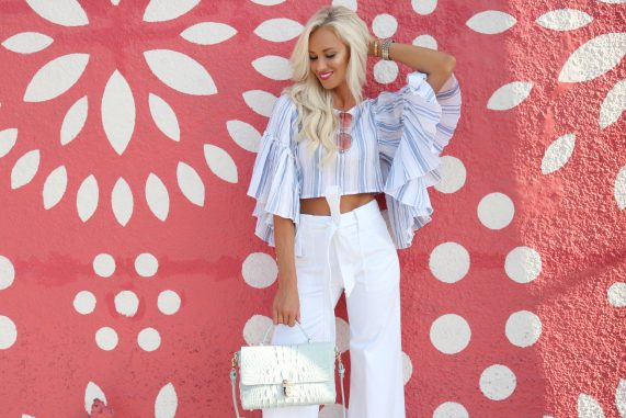 Ruffled Sleeves + High Waisted Flares