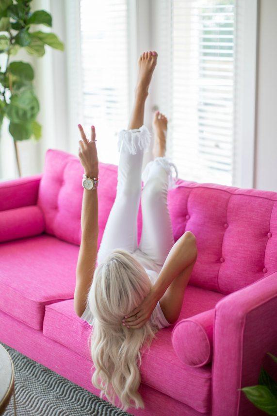 Pink Sofa Goals