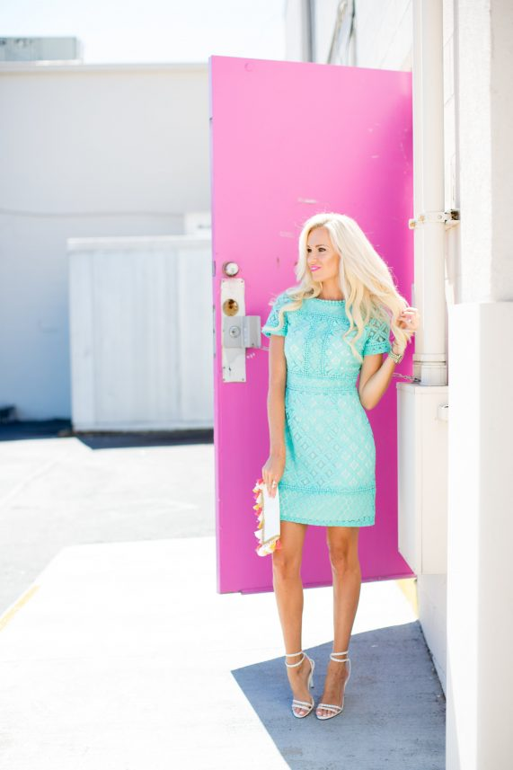 Mint Lace Dress For Summer