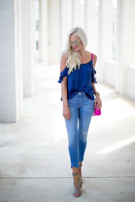 Navy Tank + Pink Crossbody