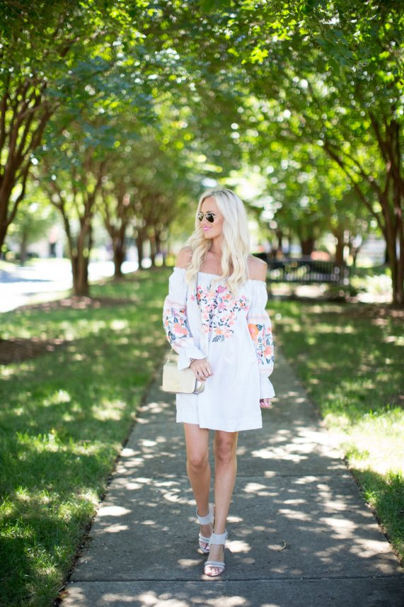 Floral Off the Shoulder Sundress