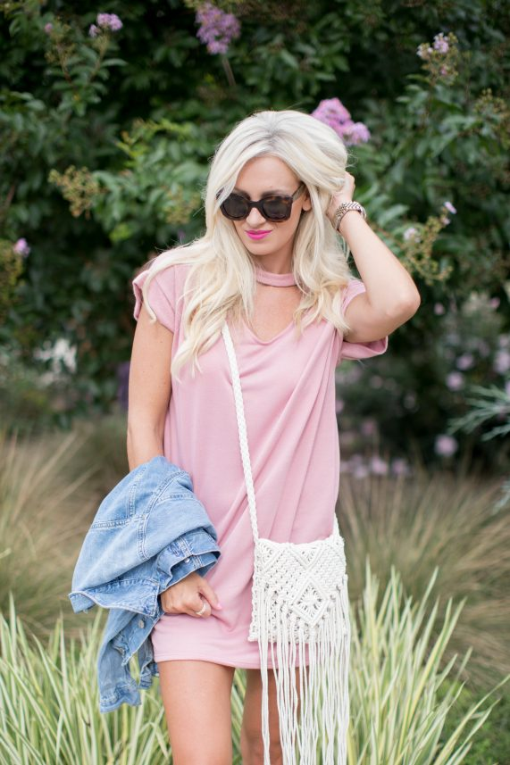 Blush Sweatshirt Dress