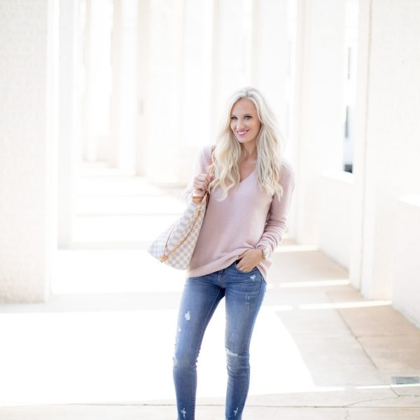 Blush Bow Sweater & the Best Leopard Flats