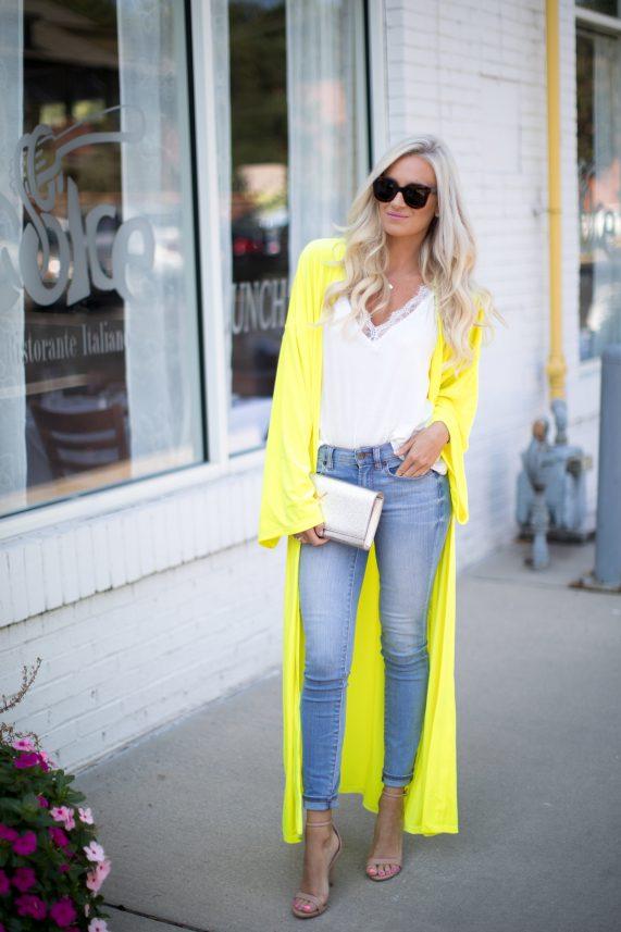 Oversized Velvet Yellow Kimono