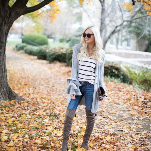 Casual Sweater + The Best Over the Knee Boots
